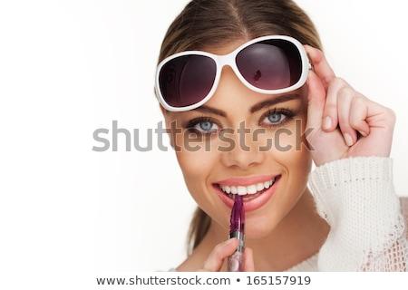 loiro · mulher · fumador · cigarro · sério - foto stock © juniart