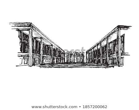 西 · サイド · 黒白 · 屋上 · テラス · ベスト - ストックフォト © rmbarricarte