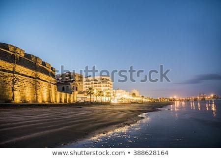 Kilátás promenád kastély Ciprus nap tenger Stock fotó © Kirill_M