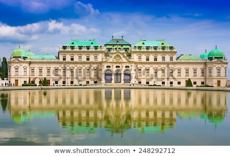 Belvedere palace in Vienna, Austria on a cloudy day Stock photo © AndreyKr