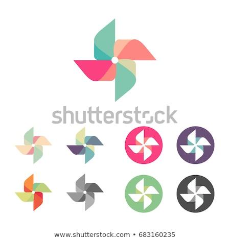 Vector illustration of a pinwheel toy Stock photo © shawlinmohd