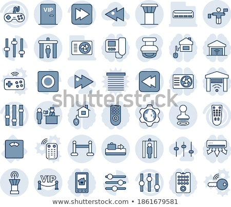 ストックフォト: Multimedia Controller Blue Vector Button Icon Design Set