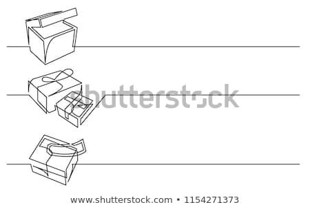 Mail busta illustrazione bianco carta servizio Foto d'archivio © make