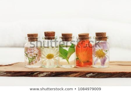 Aroma olie licht blad glas gezondheid Stockfoto © tycoon