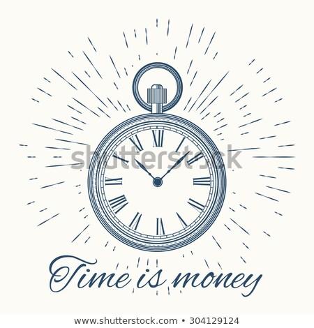5da61d9851a Relógio · vintage · sol · dinheiro · cara ilustração de