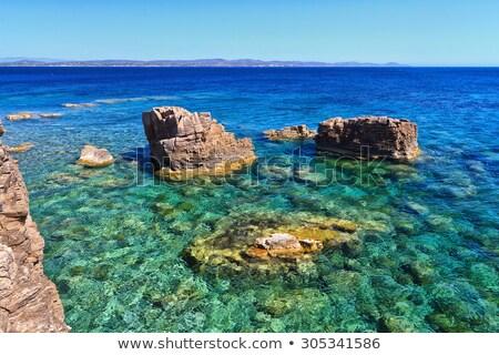 uçurum · ada · gökyüzü · su · deniz - stok fotoğraf © antonio-s