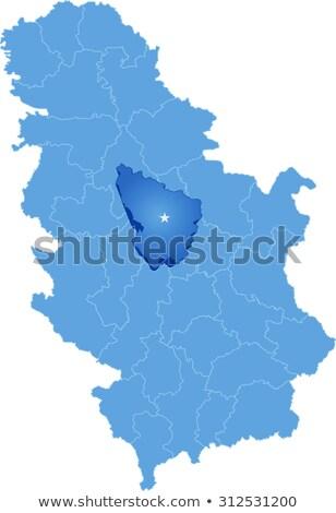 Map of Serbia, Subdivision Sumadija District  Stock photo © Istanbul2009