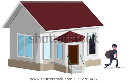 Male thief robbed house. Burglaries. Property insurance Stock photo © orensila