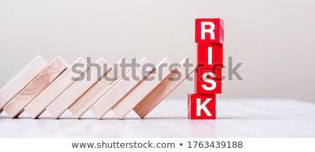 Stop - Text on Red Puzzles. Stock photo © tashatuvango