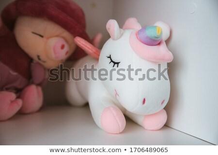 Yumuşak oyuncak at yalıtılmış beyaz dizayn Stok fotoğraf © GeniusKp