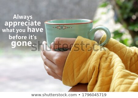 woman holding card with i love you word stock photo © fuzzbones0