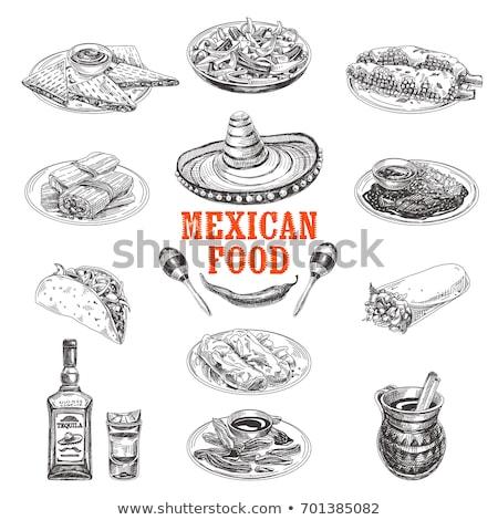 México · ícones · ilustração · estilizado · festa - foto stock © netkov1
