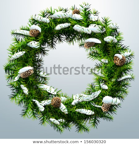 Fir wreath. Green lush spruce branch. Fir branches Stock photo © orensila