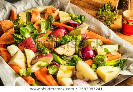Mixed root vegetables Stock photo © olandsfokus