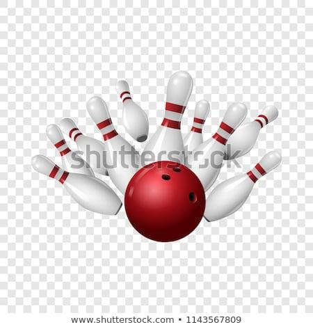 Bowling ball strike pins Stock photo © jordanrusev