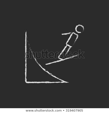 icono · esquí · saltar · invierno · velocidad - foto stock © rastudio