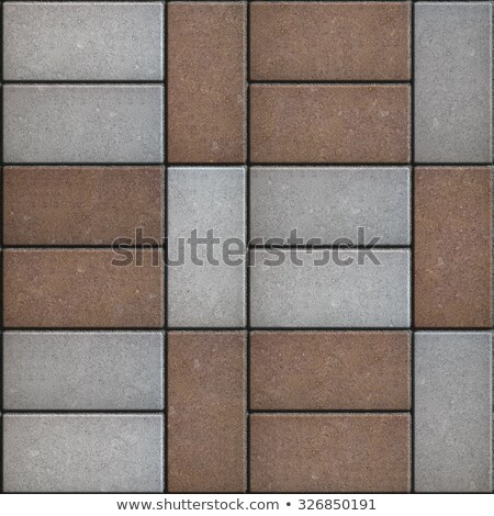 Two-tone Rectangular Pavement. Seamless Texture. Stock photo © tashatuvango