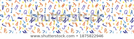 hand drawn uppercase letters seamless pattern light stock photo © voysla