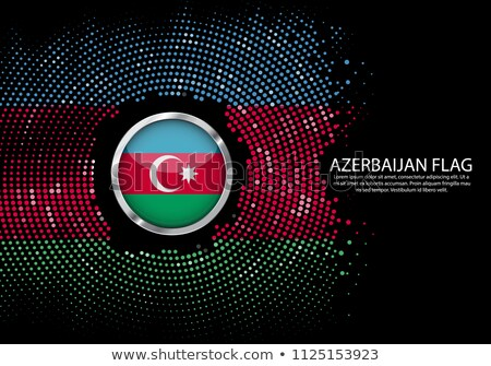 Azerbaiyán país bandera mapa forma texto Foto stock © tony4urban