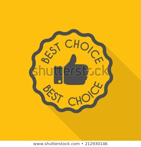 best choice yellow vector icon design stock photo © rizwanali3d