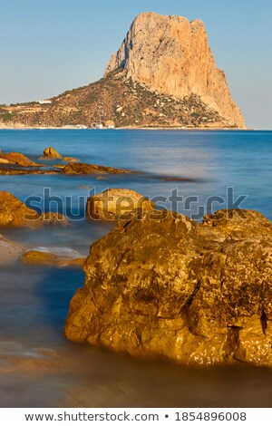 Ifach Penon mountain in Calpe from blue sea  Stock photo © lunamarina