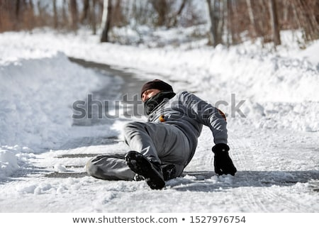 Stock photo: Black Ice Accident