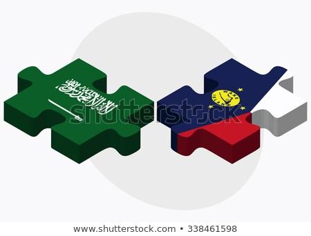 Suudi Arabistan ada bayraklar bilmece yalıtılmış Stok fotoğraf © Istanbul2009