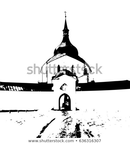 Unesco kilise yeşil dağ şehir Çek Cumhuriyeti Stok fotoğraf © X-etra