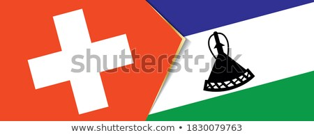 Switzerland and Lesotho Flags Stock photo © Istanbul2009