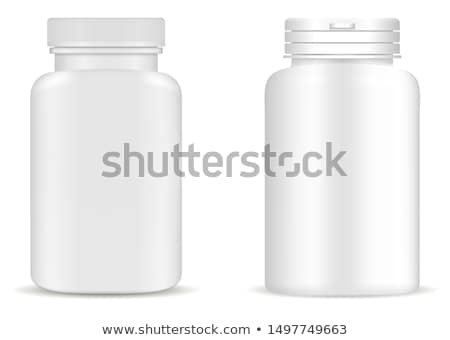 vector of tablets and bottle stock photo © morphart