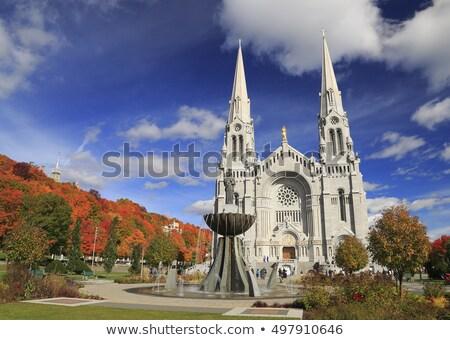 Bazilika kápolna Quebec Kanada templom gótikus Stock fotó © benkrut
