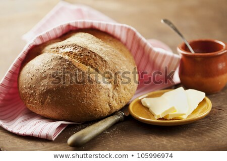 Vers brood boter oude houten tafel Stockfoto © mady70