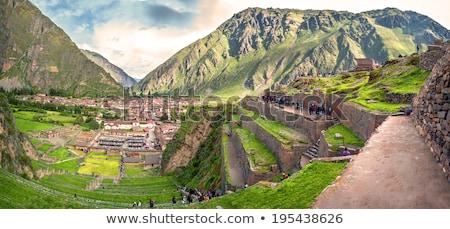 Anciens agricole sacré vallée Pérou amérique du sud Photo stock © alexmillos