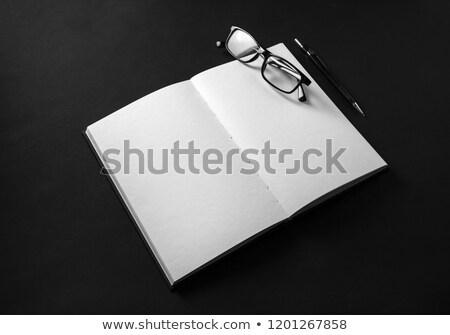 felső · kilátás · üres · nyitva · notebook · toll - stock fotó © stevanovicigor