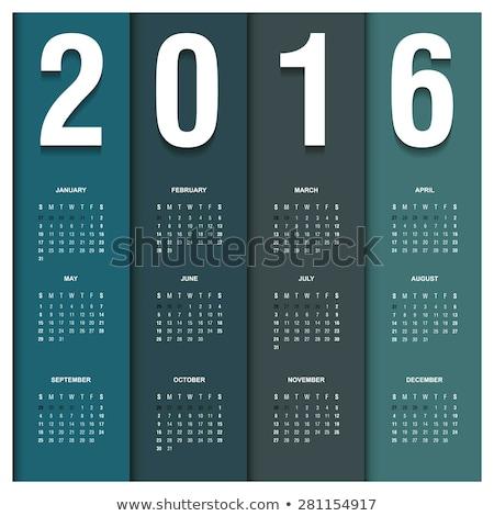 2016 takvim stil renkli kart model Stok fotoğraf © rommeo79