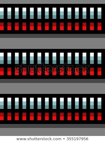 Stahl Techno Rohre Rotlicht grau Stock foto © Melvin07