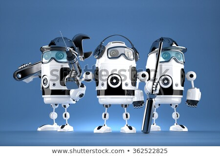 Group of robot mechanics. Technology concept. Contains clipping path stock photo © Kirill_M