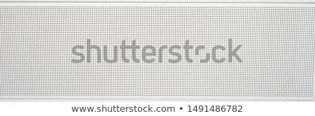Fekete pontozott fém lap fém textúra absztrakt Stock fotó © IMaster