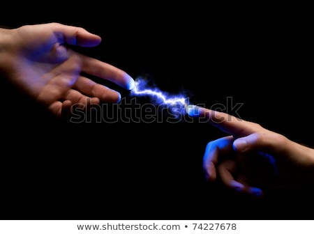 spark between hands Stock photo © your_lucky_photo