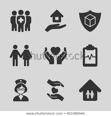nursing home icon Stock photo © djdarkflower