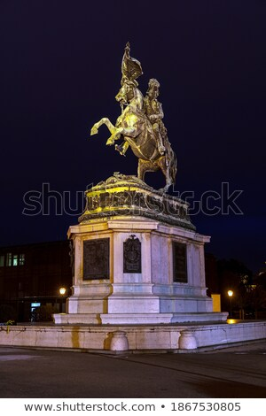 Equestrian statue of Archduke Charles of Austria at Heldenplatz Stock photo © meinzahn