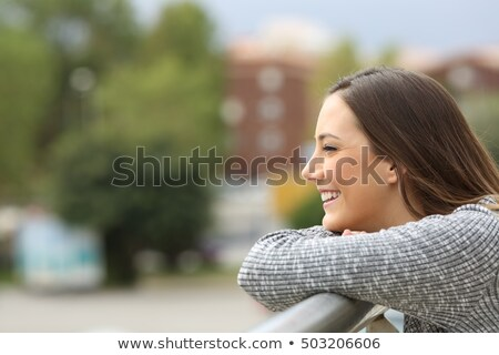 Smiling teenager with positive attitude Stock photo © zurijeta