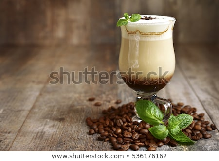 .latte coffee with white chocolate Stock photo © fanfo