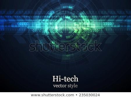 Dark green hi-tech design with grunge texture Stock photo © saicle