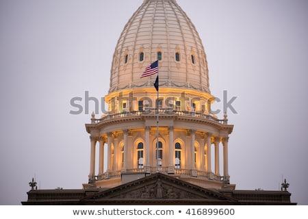 Night Falls Capital Building Lansing Michigan Downtown City Skyl Stock photo © cboswell