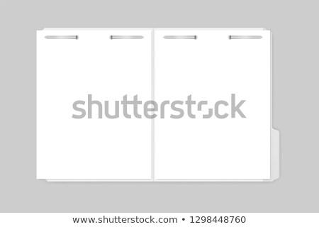 Plata cubrir archivo carpeta blanco Foto stock © devon