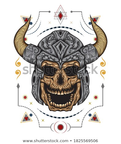zombie dead warrior skull military design Stock photo © Zuzuan