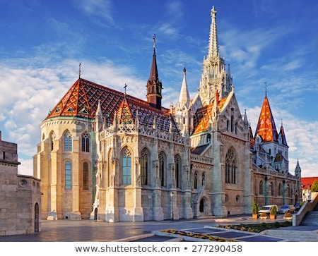 matthias church and fishermans bastion budapest hungary stock photo © kayco