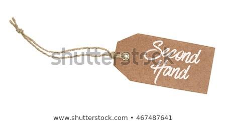 Tag witte tekst tweede hand papier Stockfoto © Zerbor