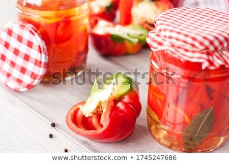 Marinált paprikák pörkölt édes olaj étel Stock fotó © Digifoodstock